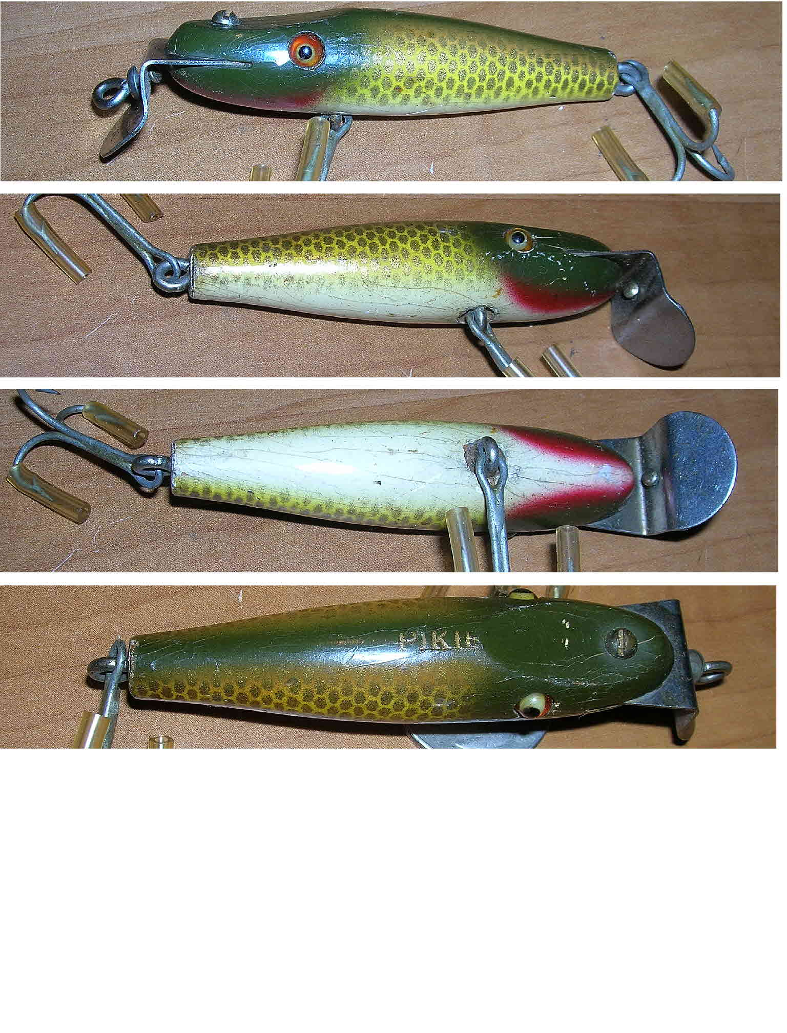 Creek chub lures fishing creek chub midget pikie 2204 very nice circ 1940s wooden lure with glass eyes both eyes are fine the lure is in the golden shiner color pattern nvjuhfo Gallery